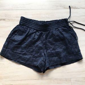 J. Crew Navy Linen Pull-on Shorts